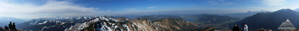 Panoramablick vom Brecherspitz