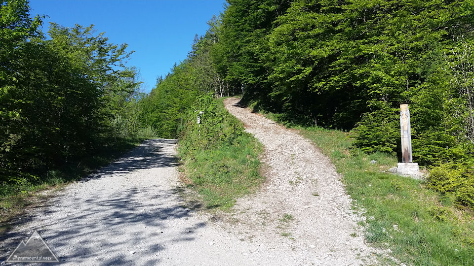 Entrance to the path to the Ochsensitz