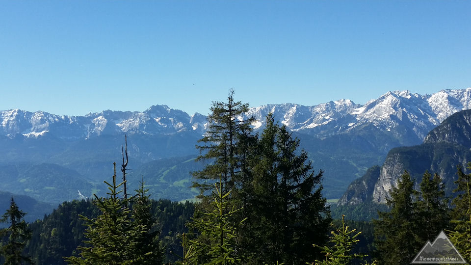 Wetterstein mountains from Ochsensitz