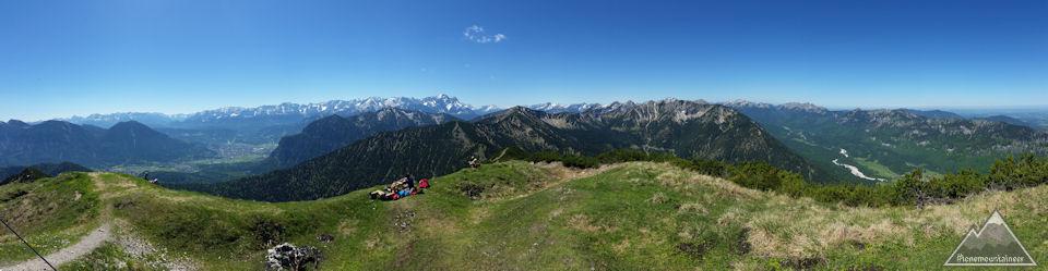 Panorama von Notkarspitze 1