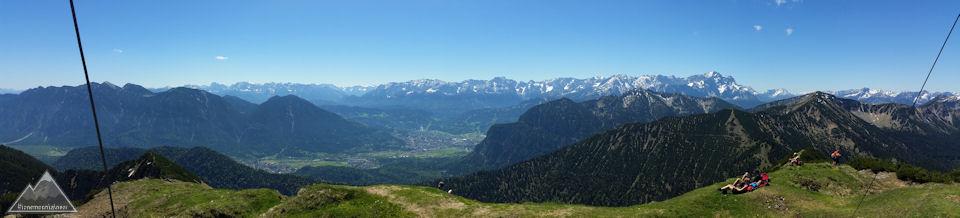 Panorama von Notkarspitze 2